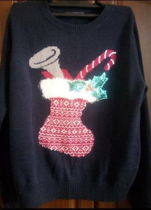 Новорічний светрик/праздничный свитер/классный праздничный свитерок