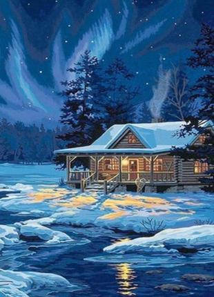 """Картина по номерам """"полярное сияние"""" 40*50см"""