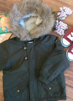 Стильная демисезонная куртка,парка на парнишку reserved на18-24 месяцев.
