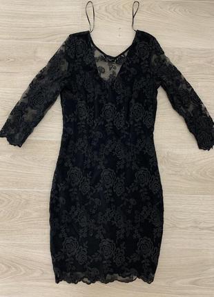 Mohito чёрное кружевное платье