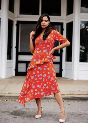 Стильное асимметрическое платье с цветочным принтом h&m