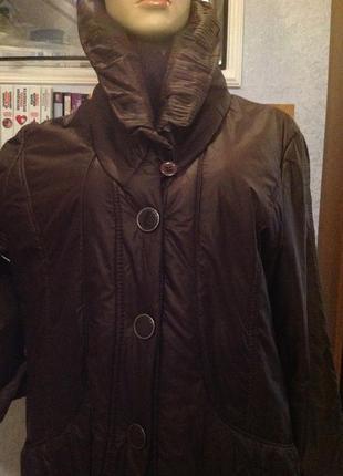 Отличная демисезонная куртка бренда gerry weber, р. 56-58