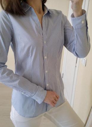 Новая базовая рубашка в полоску h&m