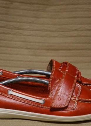 Мягкие темно-красные кожаные мокасины footglove англия 7 р.