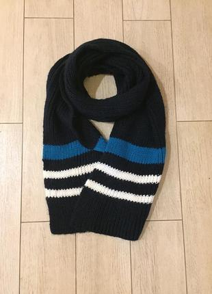 Вязаный тёплый шарф