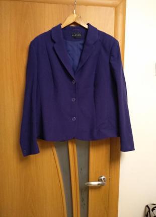 Стильный теплый жакет, блейзер, пиджак. размер 20