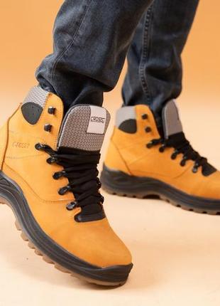 Натуральная кожа! мужские ботинки зимние