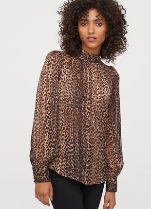 Леопардовая блузка h&m размер 40