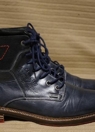 Эффектные темно-синие комбинированные кожаные ботинки camp david германия 41 р..