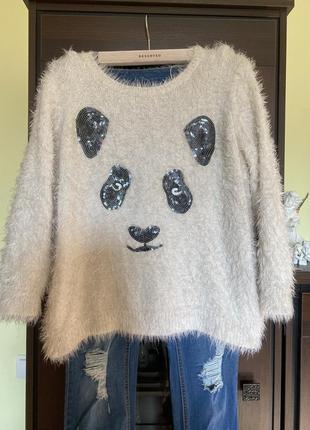 Красивый свитер травка батал marks & spenser