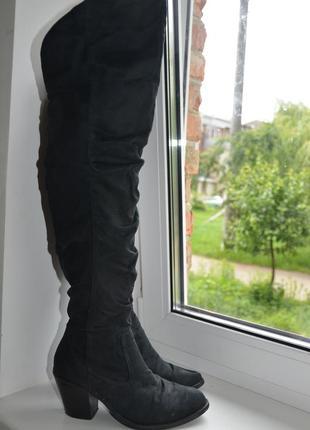 Черные ботфорды сапоги