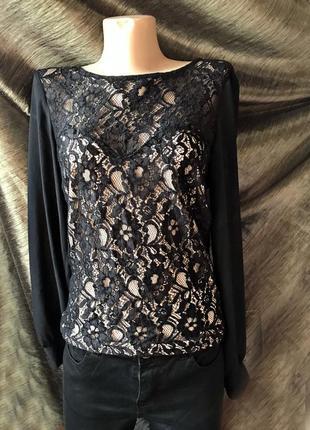 Модная стильная блузка гипюр