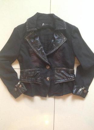 Коттоновый пиджак с баской2 фото