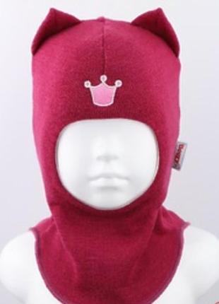 Зимняя шапка-шлем бизи beezy для девочек