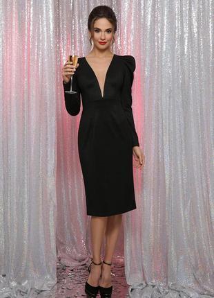 Роскошное вечернее платье черное новогоднее на корпоратив праздник новый год