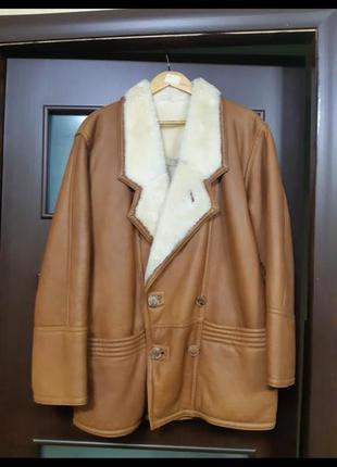 Дубленка кожаная. куртка зимняя