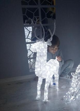 Новогодний светодиодный олень световая инсталляция