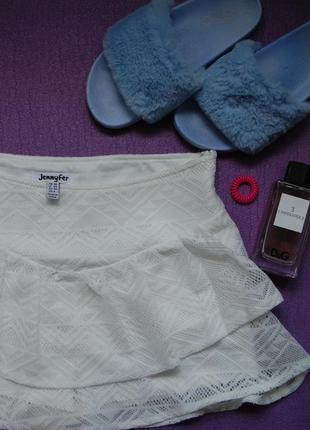 Шорты-юбка кружевная размер xs jennyfer
