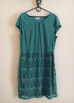 Батал большой размер шикарное нарядное натуральное платье платьице плаття