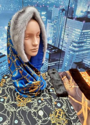Хомут снуд шапка шарф головной убор подарок жене