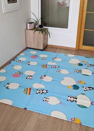 Детский коврик панды двусторонний