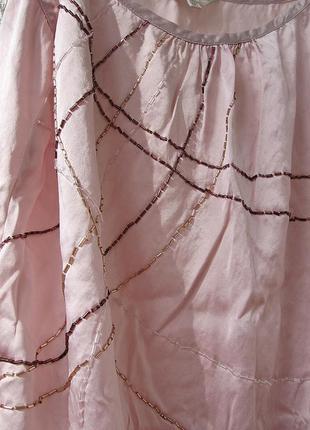Нежно розовая воздушная майка натуральный шелк i топ