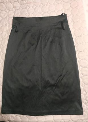 Шикарная юбка  миди завышенной талией 💞-  s m