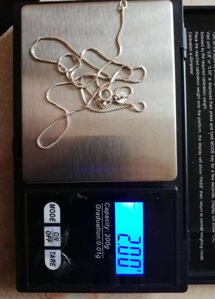 "Серебряная цепочка 49,5см #серебро 925"" лот 320"
