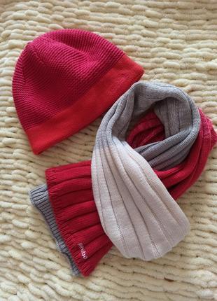 Зимняя шапка шарф набор reebok