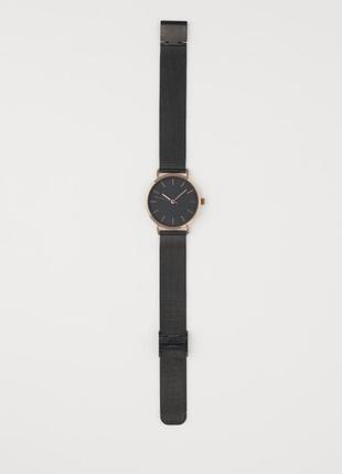 Распродажа женские часы металл чёрные h&m