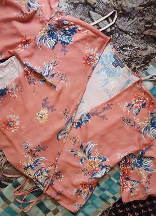 Блуза на запах с красивым рукавом m,l,xl4 фото