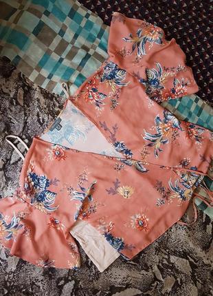 Блуза на запах с красивым рукавом m,l,xl2 фото
