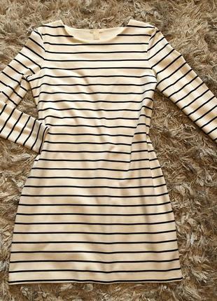 Полосатое платье h&m
