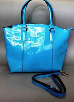 Новая сумка лакированная кожа