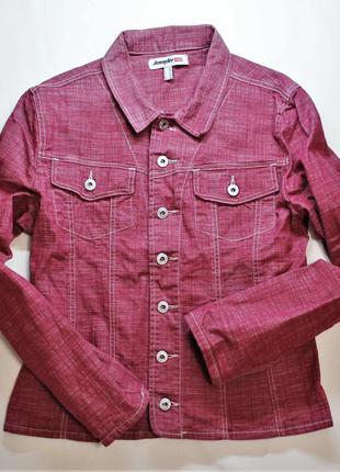 Jennyfer denim джинсовый пиджак цвет красной смородины