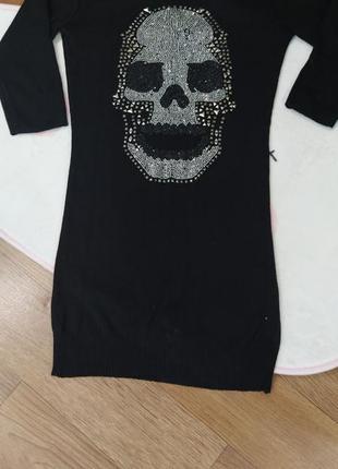 Платье чёрное philipp plein