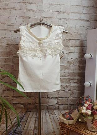 Нарядная блуза с жемчугом 🎀 s