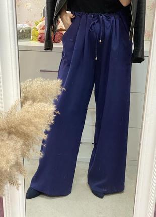 Новые синие брюки штаны большого размера