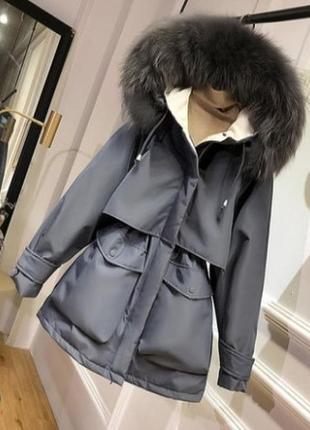 Женская куртка парка. аляска