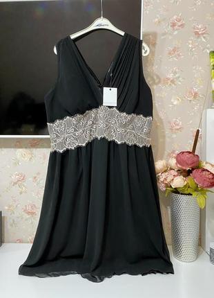 Новое нарядное платье  с v-образным вырезом большого размера little mistress