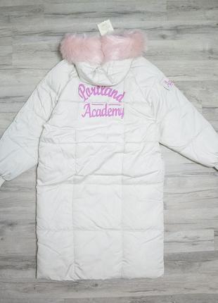 """Женская длинная куртка парка """"portland academy"""" с капюшоном"""