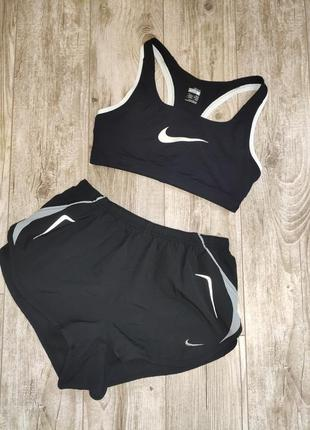 Оригинальный комплект, костюм для занятий спортом топ+шорты nike