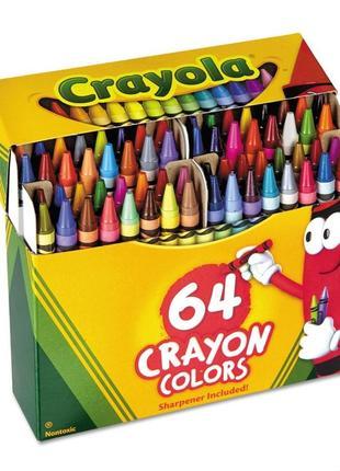 Воскові олівці 64 шт.