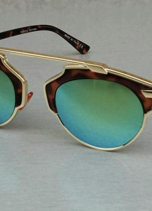 Christian dior очки женские солнцезащитные голубые зеркальные