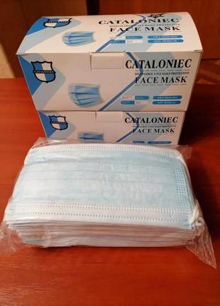 50 штук маска защитная 3х слойная фабричная мельтблаун носовой фиксатор 100% качество