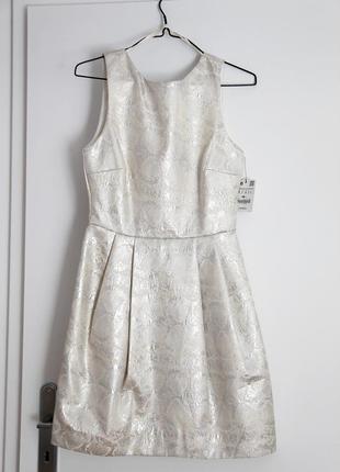 Платье мини металлик zara