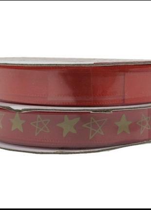 Новогодняя подарочная лента декор для подарков melinera