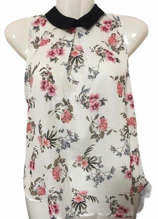 Летняя блуза с цветочным принтом