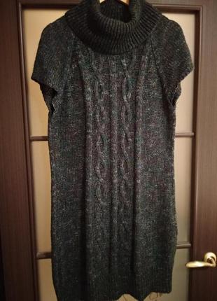 Вязаное платье, зимнее