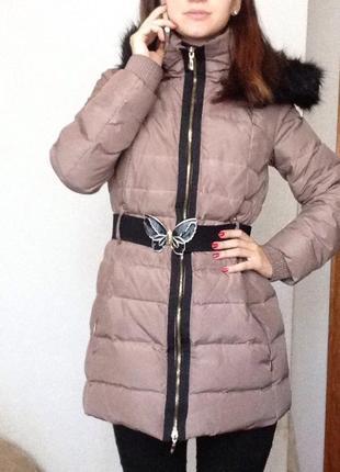Зимнее пальто-пуховик mango